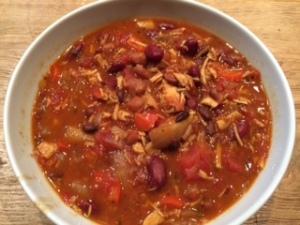 Leftover Turkey Chipotle Chili